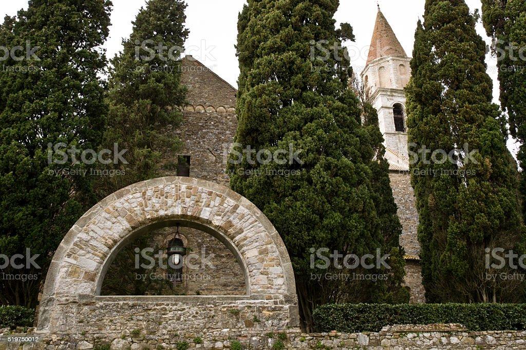 cemetery of heroes of Aquileia, Italy stock photo