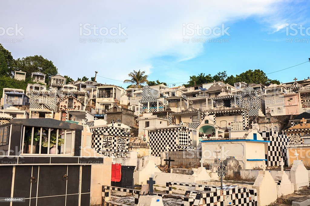 Cemetery Of Morne-à-l'Eau In Guadeloupe stock photo