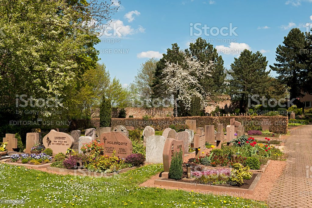 Cemetery of Nideggen stock photo