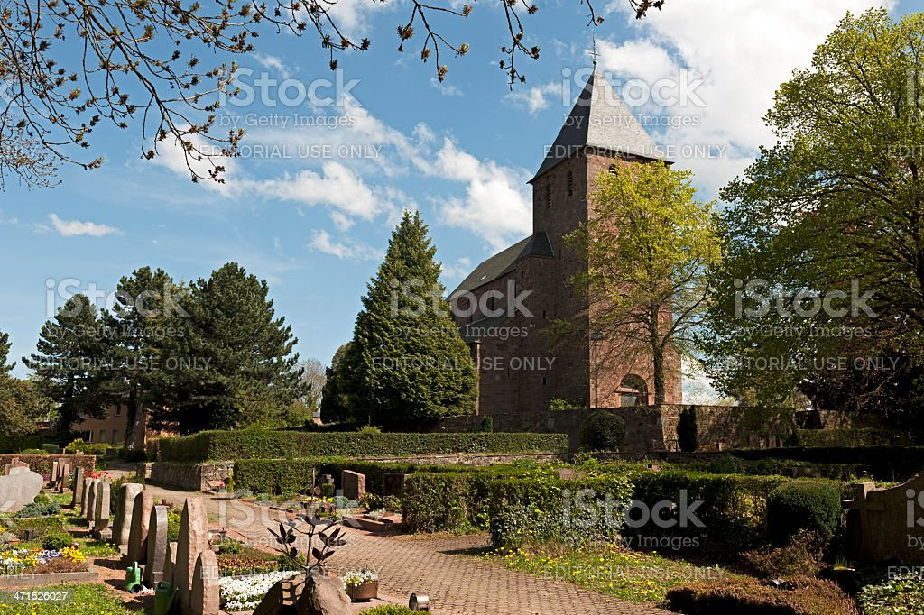 Cemetery of Nideggen royalty-free stock photo