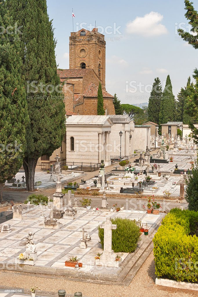 cemetery delle Porte Sante in Florence stock photo