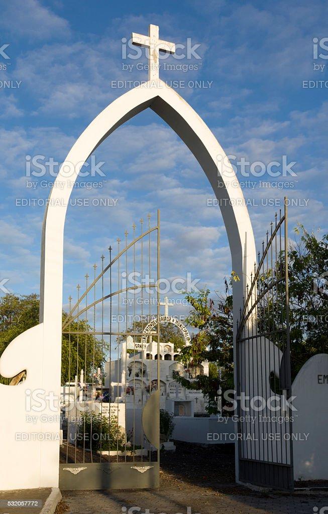 Cemetery of Puerto Ayora, Galapagos Islands stock photo
