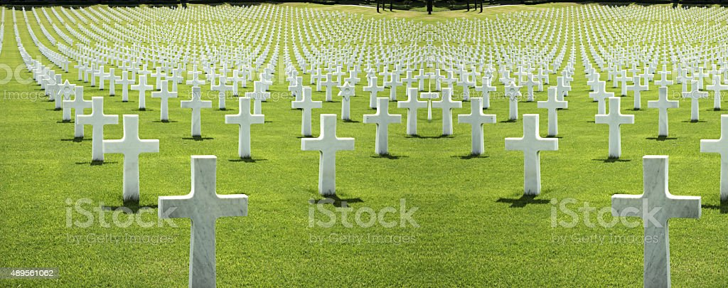 cemetery of the Americans in Florence stock photo