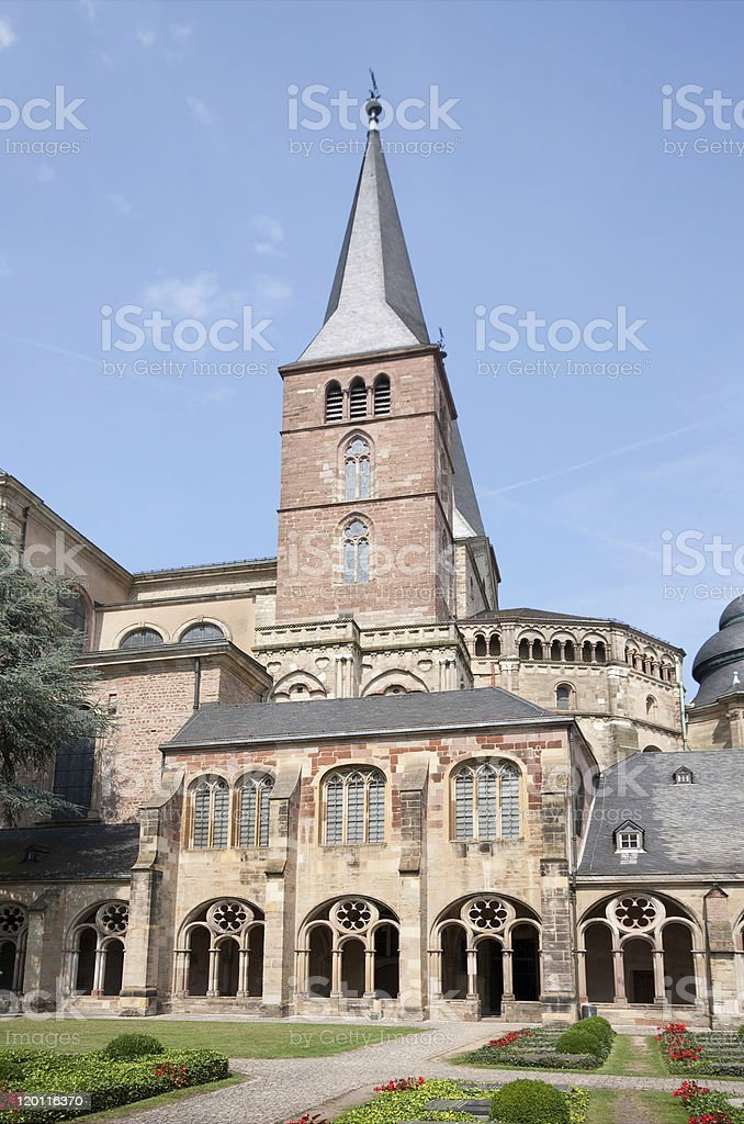 Cemetery of the Cathedral Saint Peter (Trier, Germany) stock photo