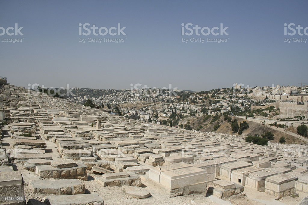 Cemetery on the Mt. of Olives stock photo