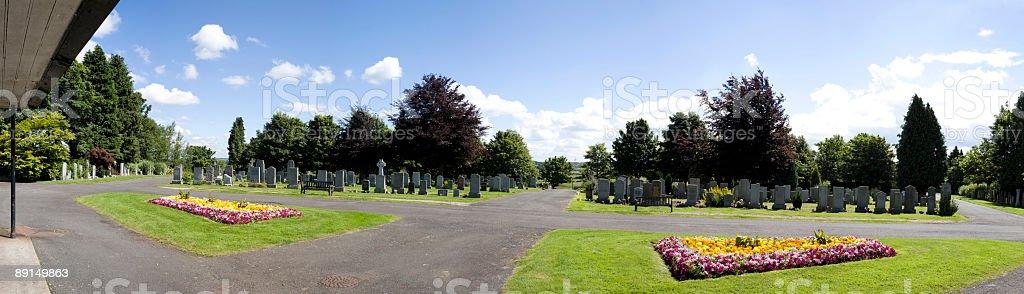 Cemetery Panorama royalty-free stock photo