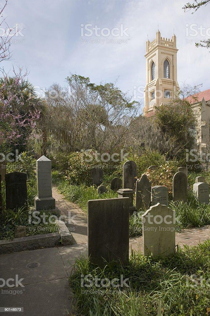 Cemetery path, Unitarian Church stock photo