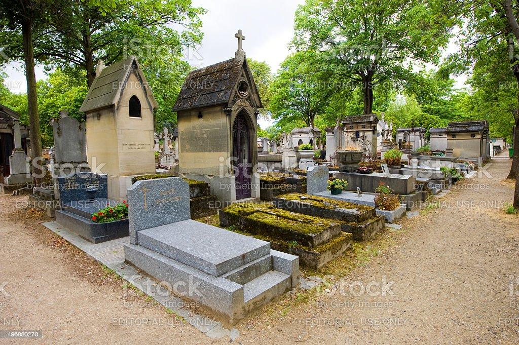 Cemetery Pere Lachaise stock photo