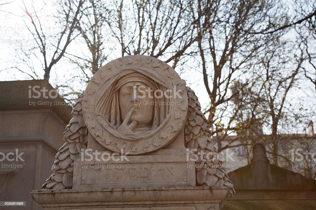 Cemetery Pere-Lachaise stock photo