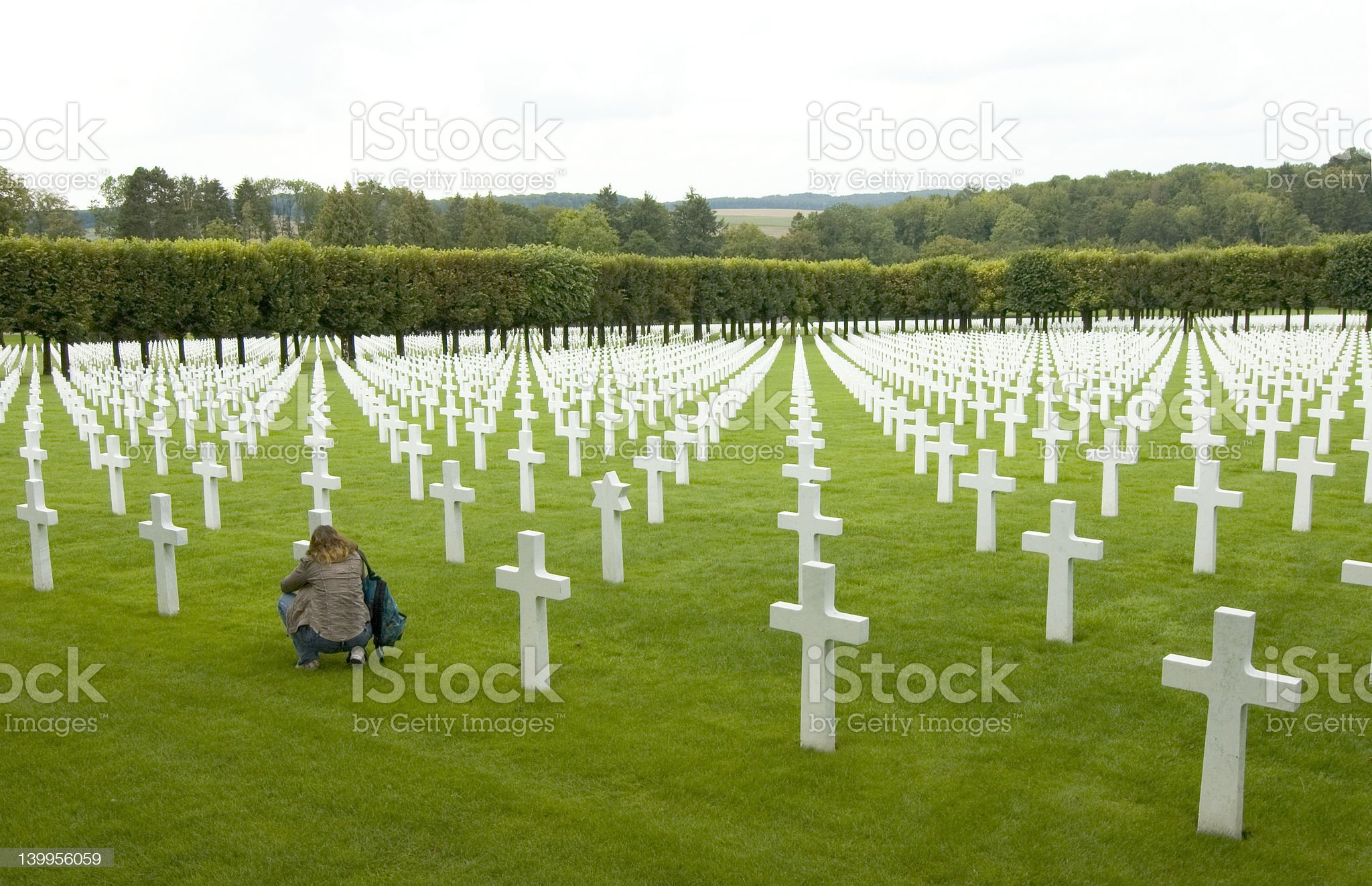 U.S. WW1 cemetery royalty-free stock photo