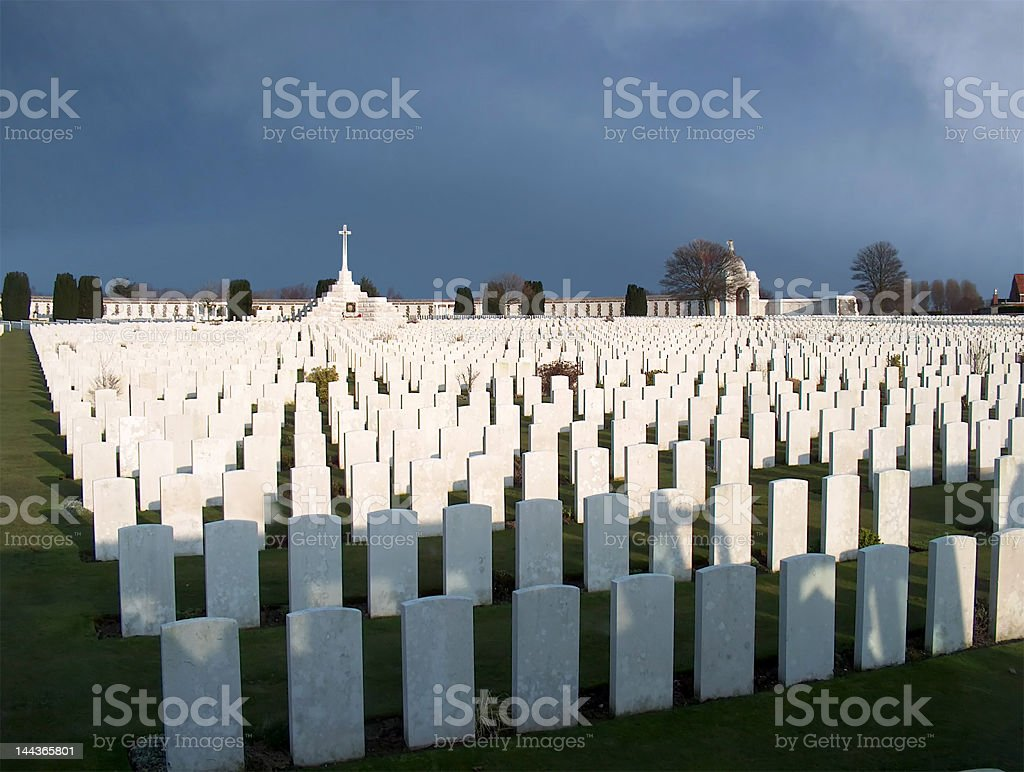 WW1 cemetery royalty-free stock photo