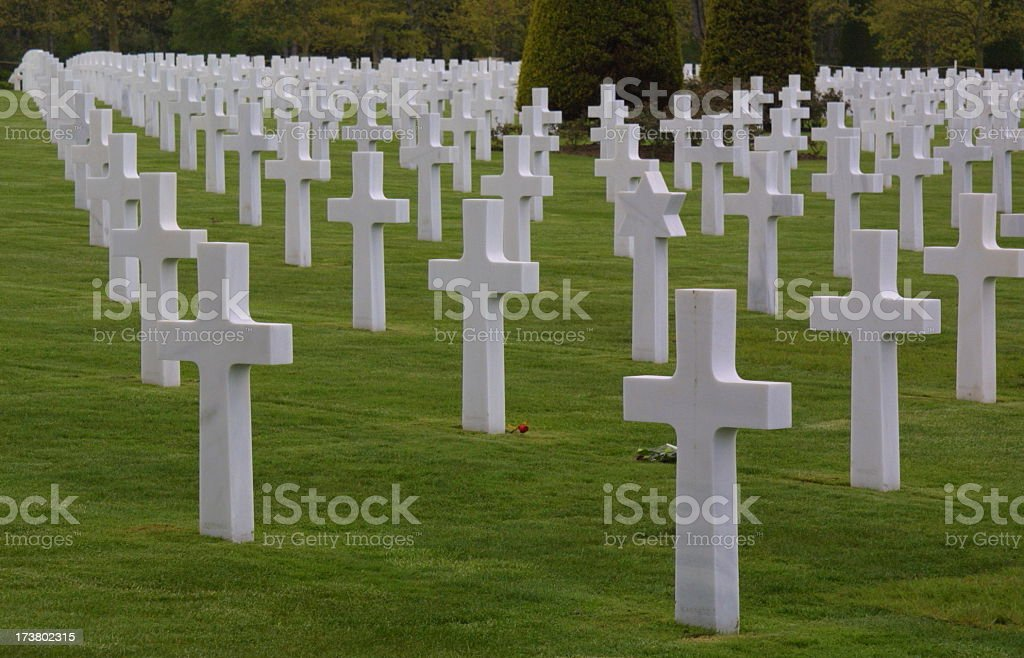 U.S. cemetery royalty-free stock photo