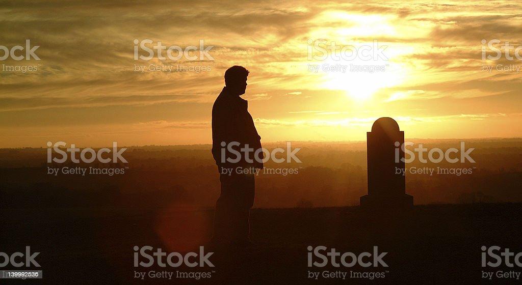 Cemetery Silhouette stock photo