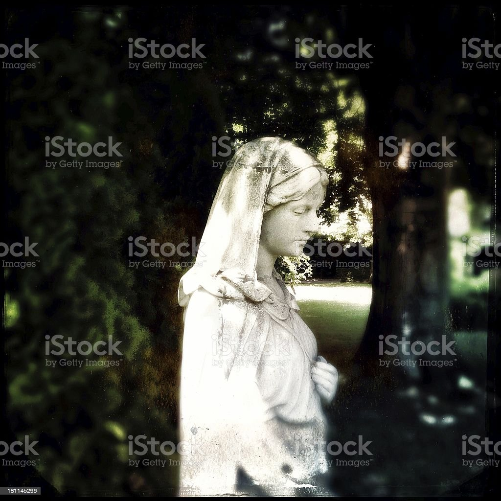 Cemetery Statue royalty-free stock photo
