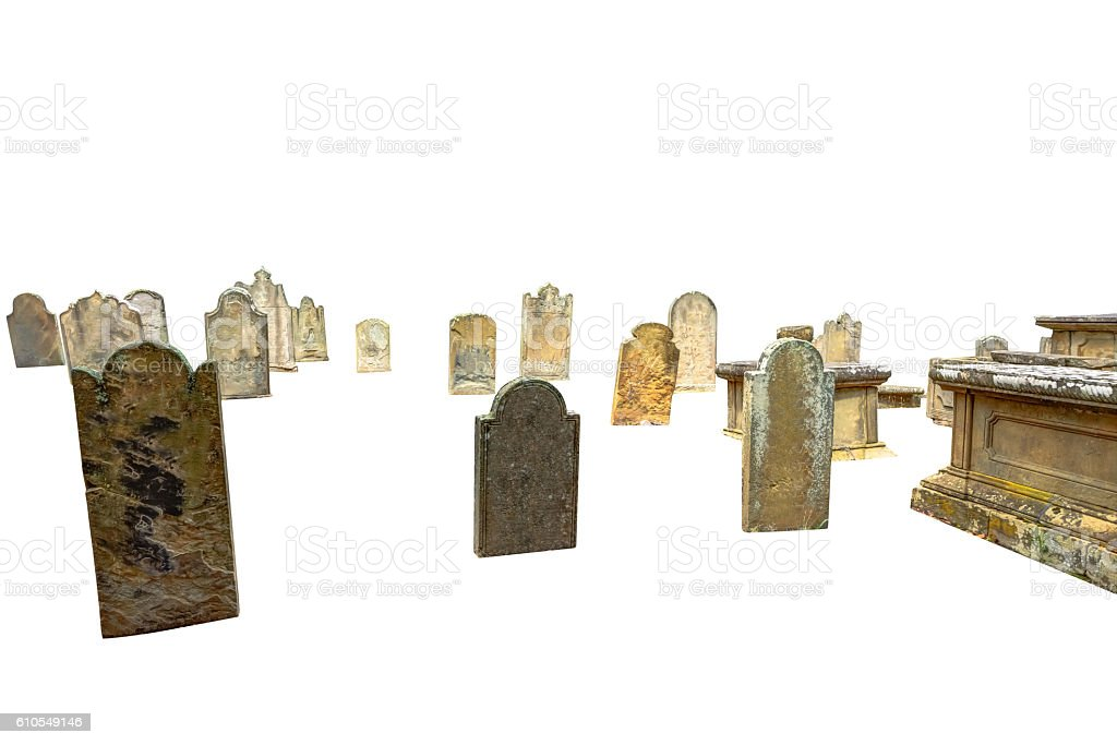 cemetery tombs isolated stock photo