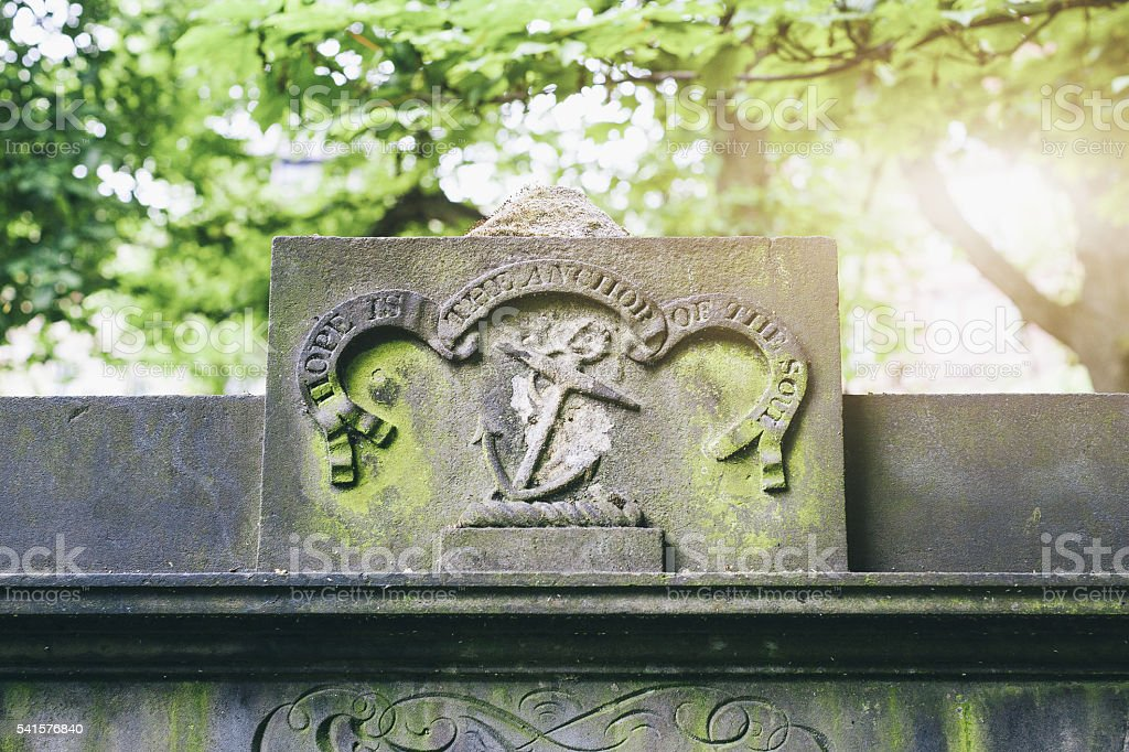 Cemetery Tombstones - Anchor stock photo