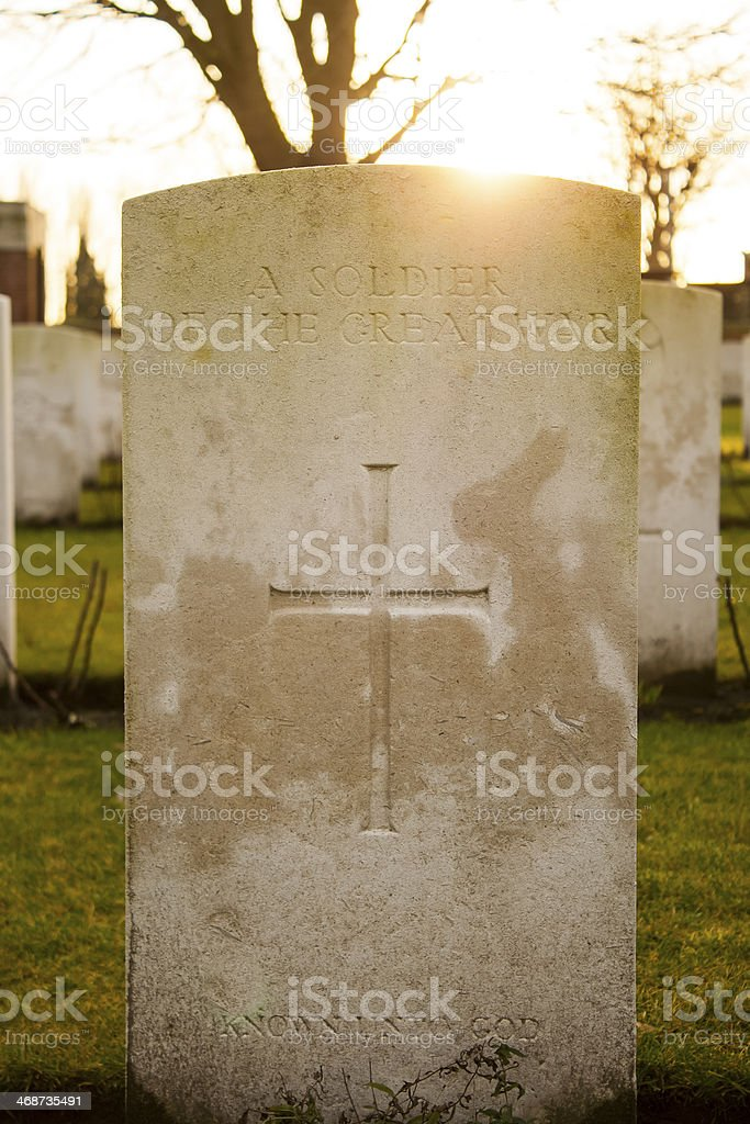 Cemetery world war flanders fields Belgium stock photo