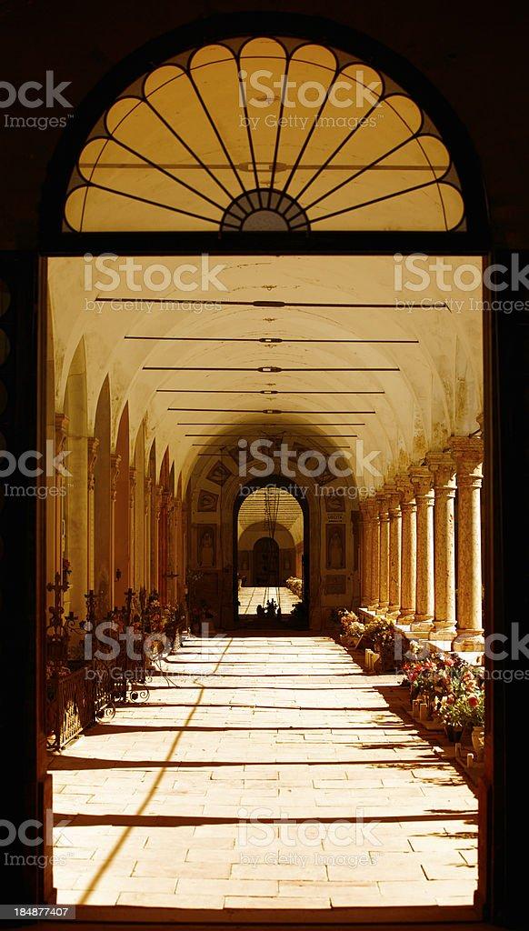 Cemetry In Ferrara royalty-free stock photo