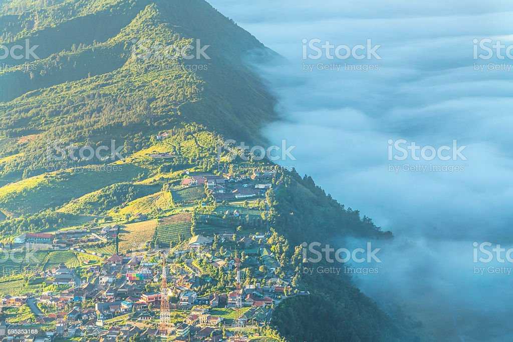 Cemoro lawang at bromo mount, Indonesia stock photo