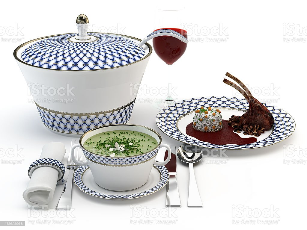 Cena, comida o desayuno royalty-free stock photo