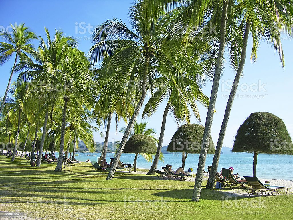 Cenang beach, Langkawi, Malaysia royalty-free stock photo