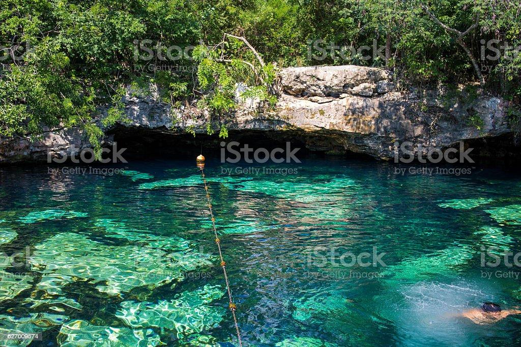 Cenote Azul stock photo