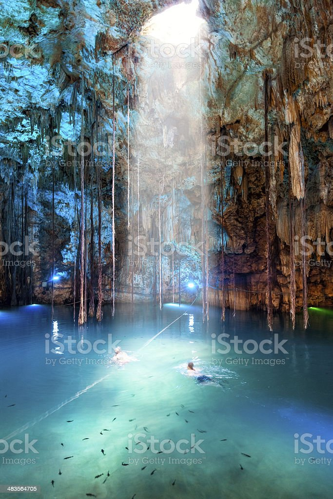 Cenote Dzitnup near Valladolid, Mexico stock photo