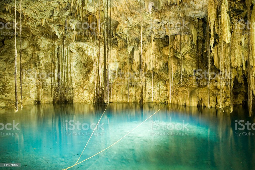 Cenote Dzitnup - Valladolid royalty-free stock photo