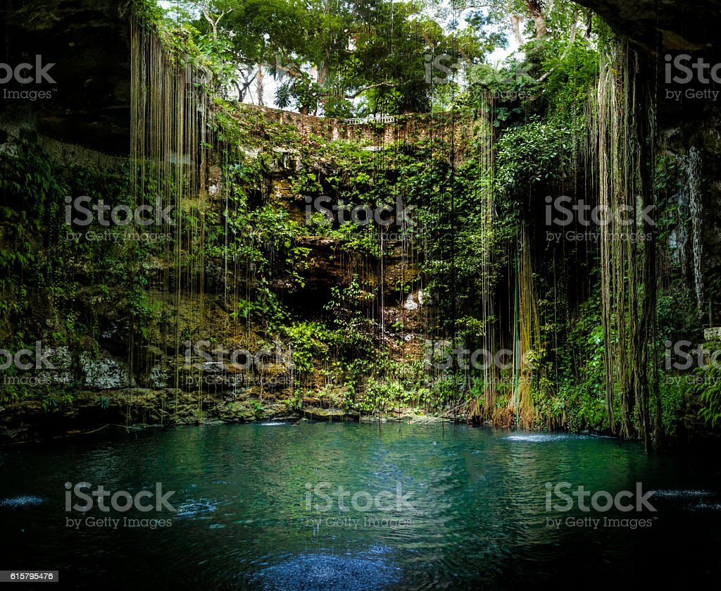 Cenote Ik Kil - Yucatan, Mexico stock photo
