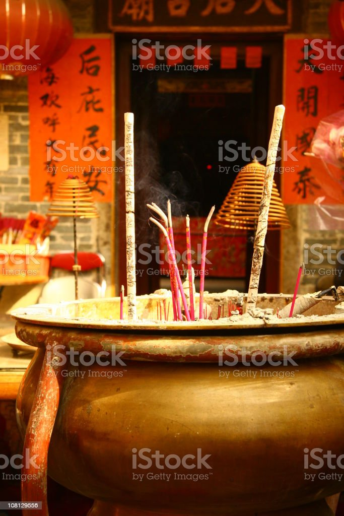 Censer at a temple stock photo