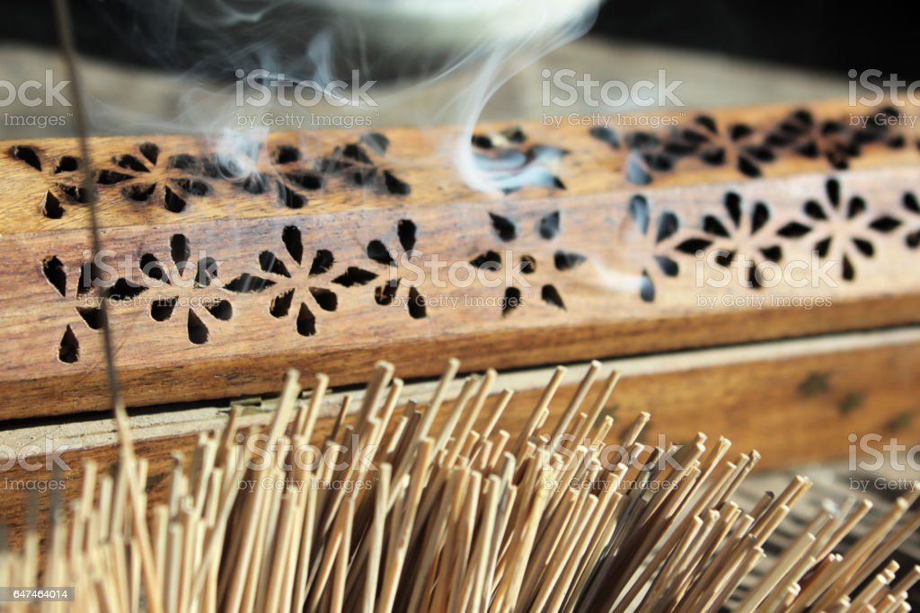 Censer Incense Smoke Asian Cultural Tradition stock photo