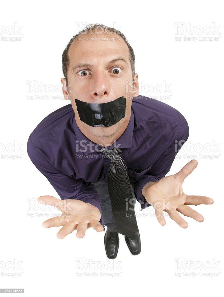 censored businessman royalty-free stock photo