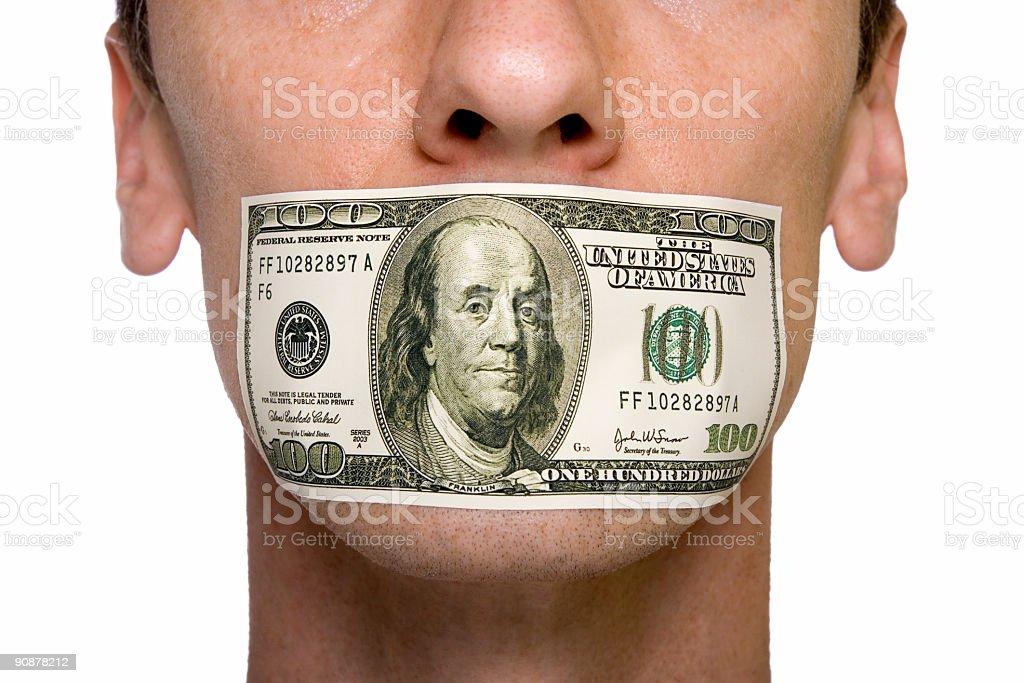 censored by money royalty-free stock photo