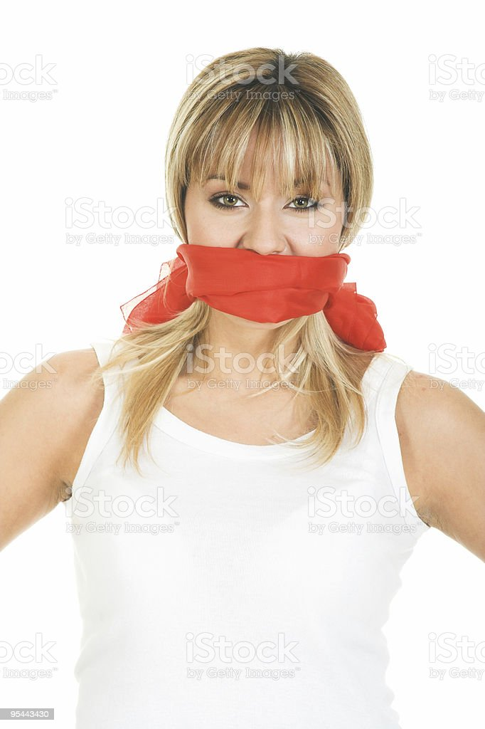 Censored concept - Freedom of speech stock photo