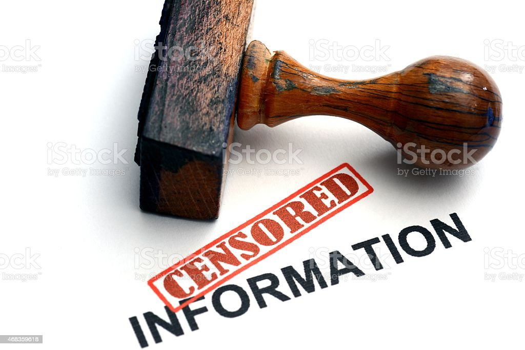 Censored information stock photo