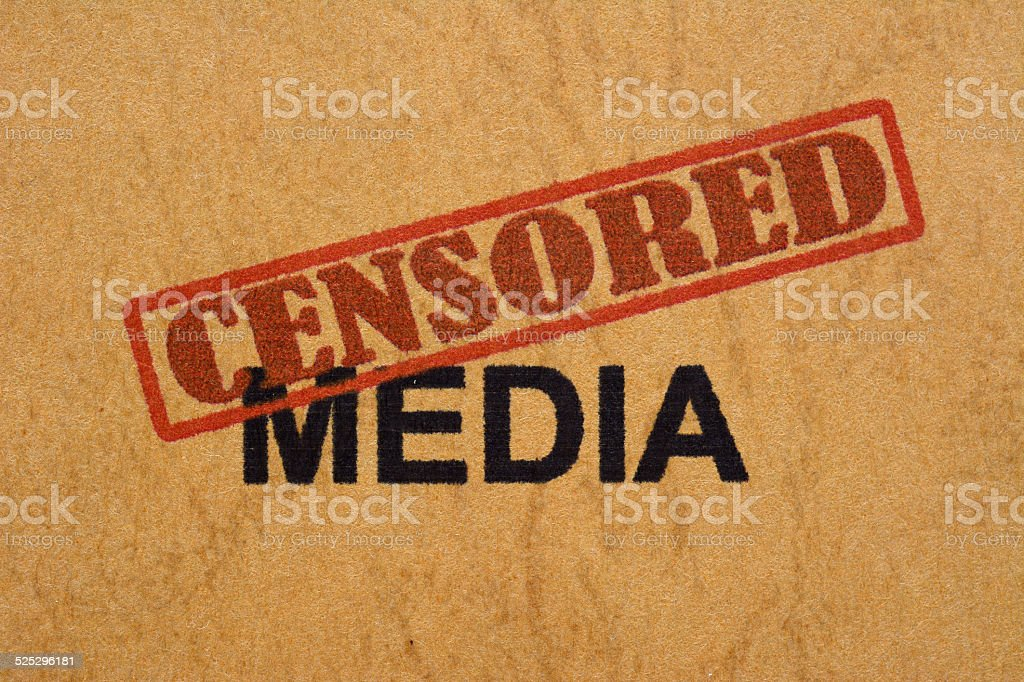 Censored media stock photo