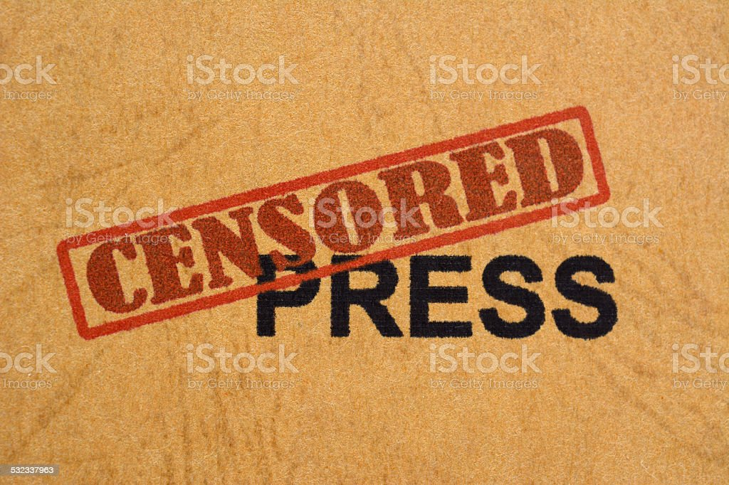 Censored press stock photo