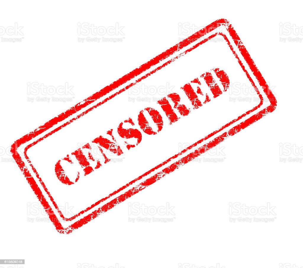 censored rubber stamp stock photo