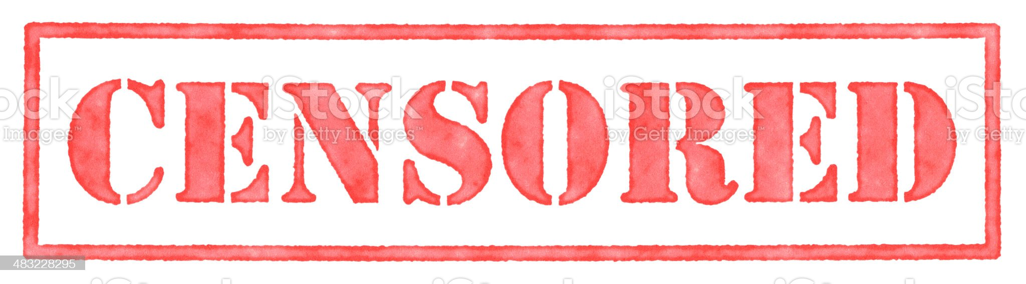 Censored Stamp royalty-free stock photo