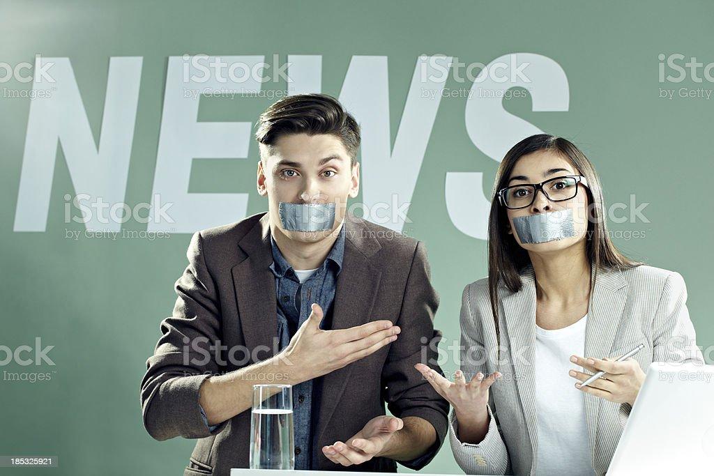 Censored TV: price of democracy royalty-free stock photo