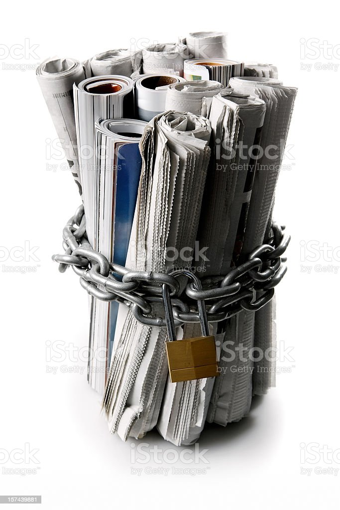 censoring the news paper and magazines royalty-free stock photo