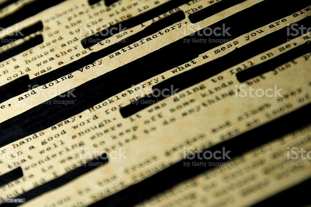 Censorship 2 stock photo
