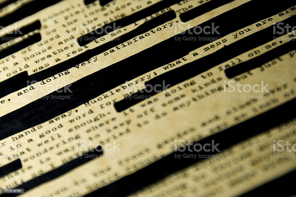 Censorship 2 stock photo