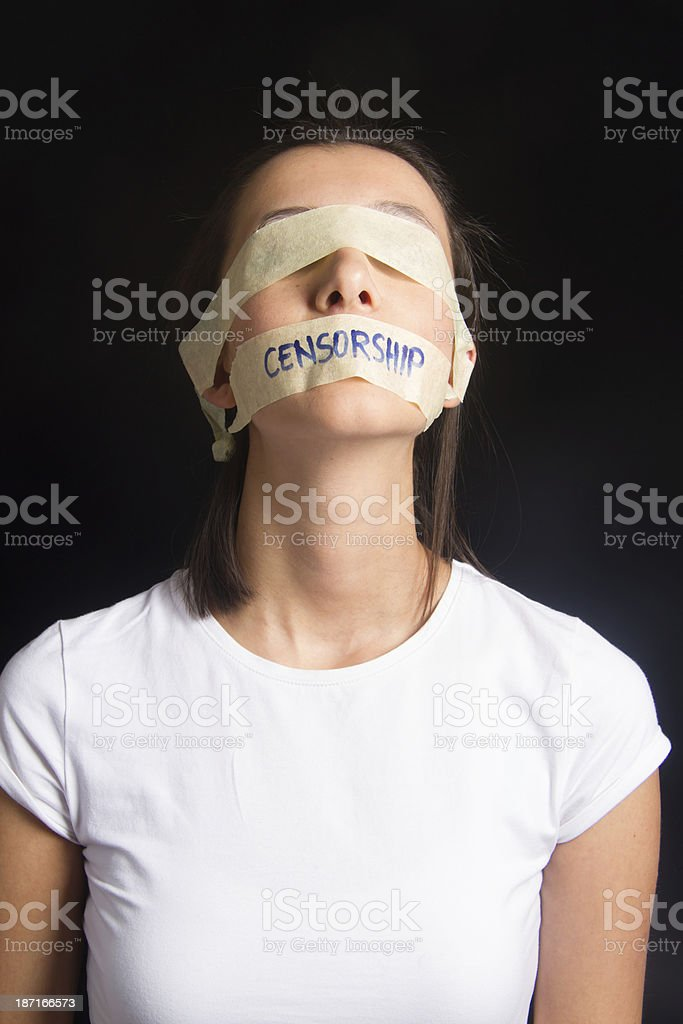 Censorship Concept stock photo