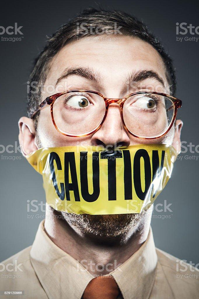 Censorship Man Portrait stock photo