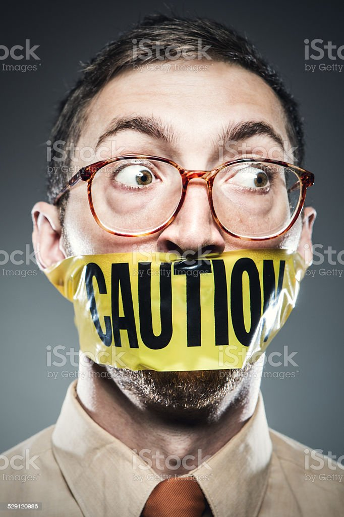 Censorship Man Portrait stock photo