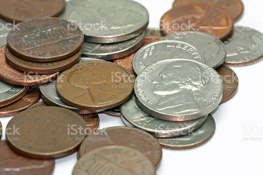 US Cent - 4 royalty-free stock photo