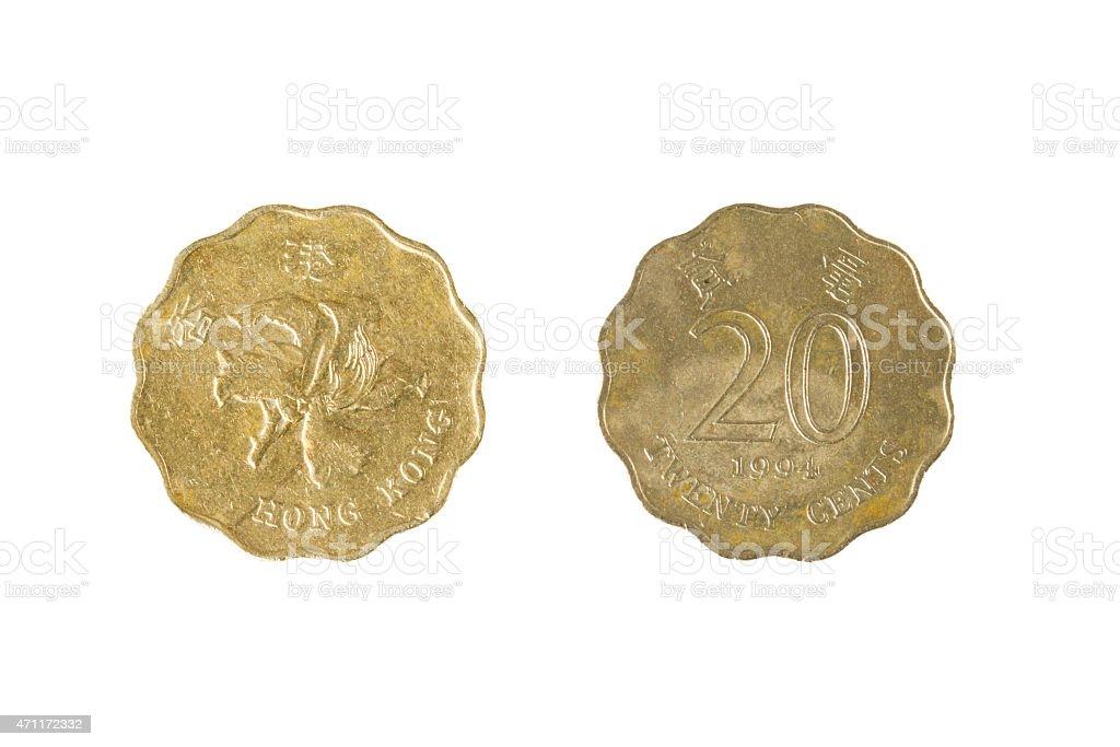 20 Cent Hong Kong Coin stock photo