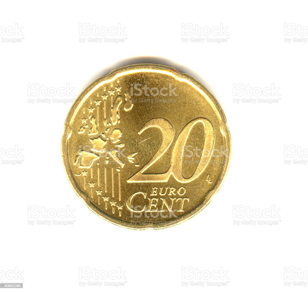 20 cent royalty-free stock photo