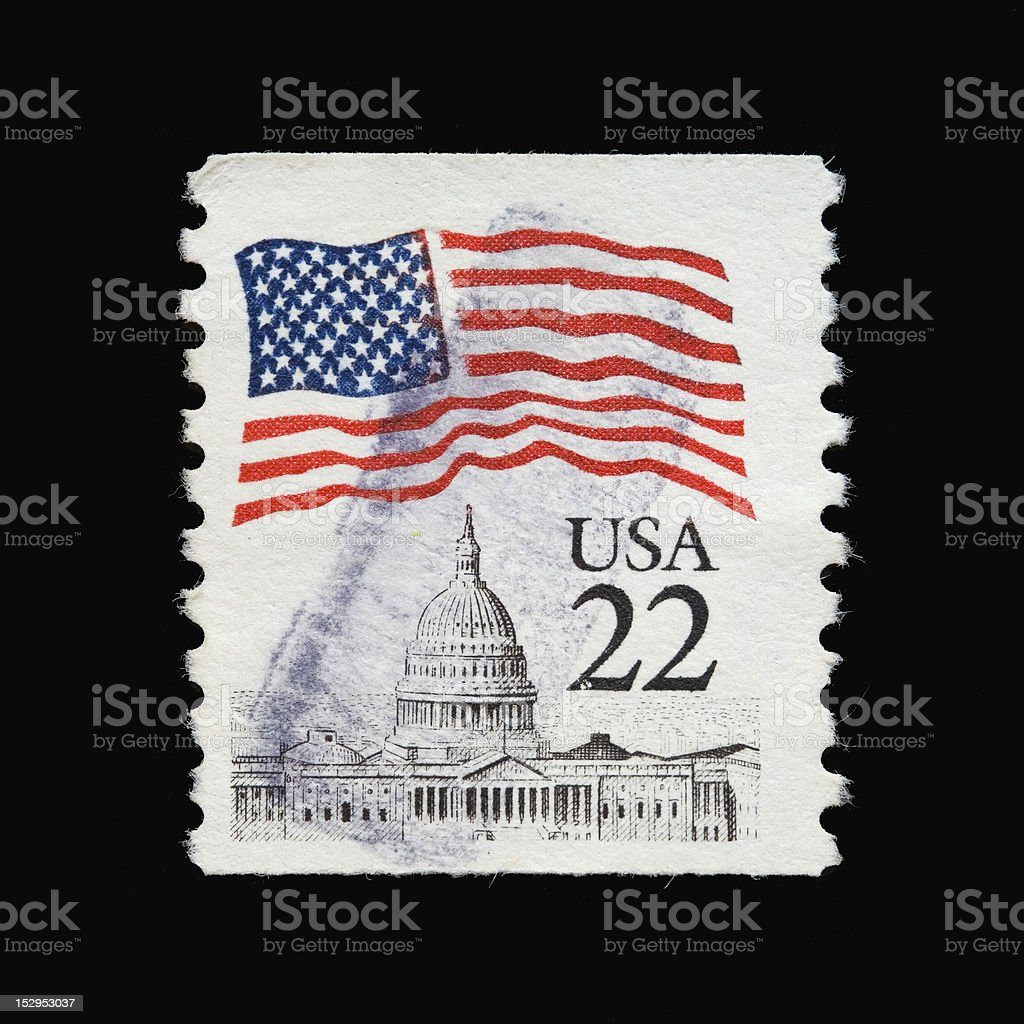 USA 22 cent stamp stock photo